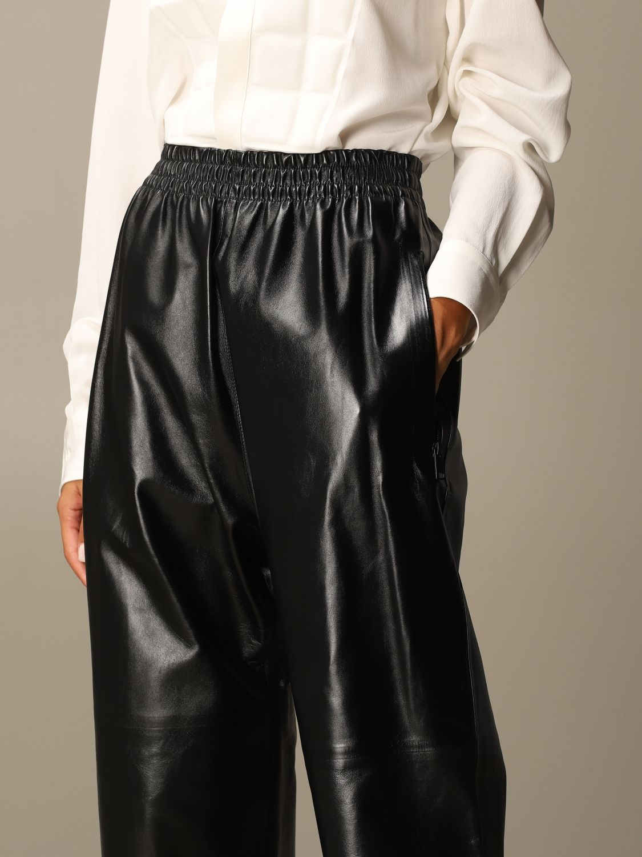 Pants Bottega Veneta: Bottega Veneta trousers in shiny leather black 4