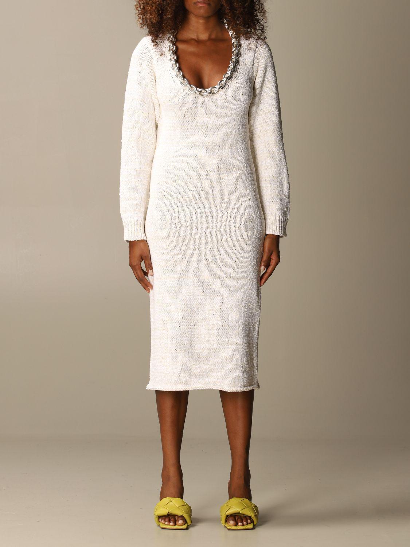 Dress Bottega Veneta: Dress women Bottega Veneta yellow cream 1