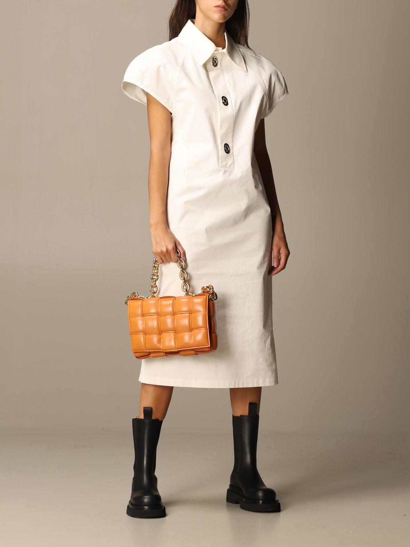 Dress Bottega Veneta: Dress women Bottega Veneta yellow cream 2