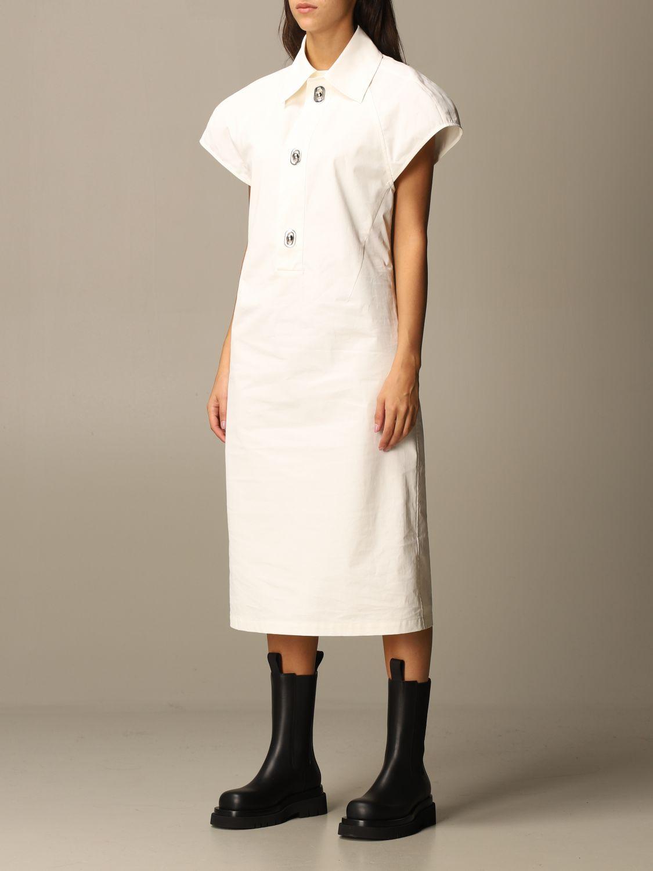 Dress Bottega Veneta: Dress women Bottega Veneta yellow cream 4