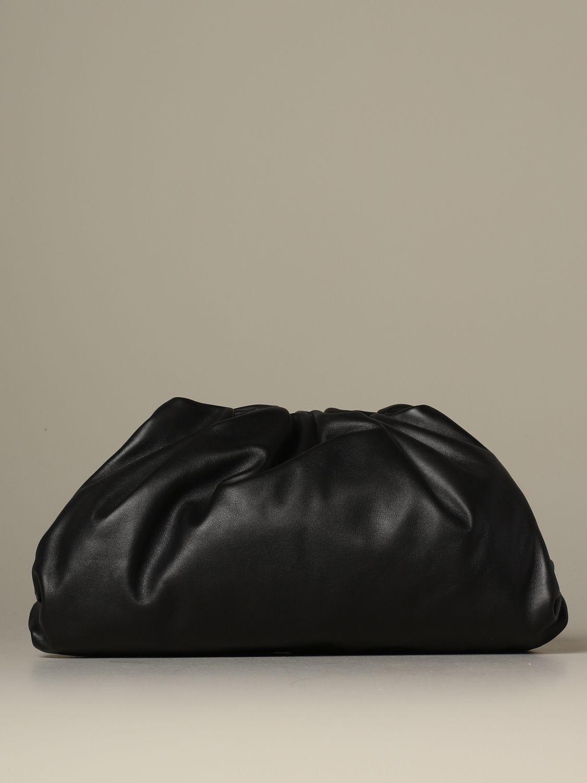 Clutch Bottega Veneta: The pouch Bottega Veneta clutch in nappa leather black 1