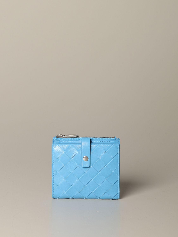 Wallet Bottega Veneta: Wallet women Bottega Veneta gnawed blue 1