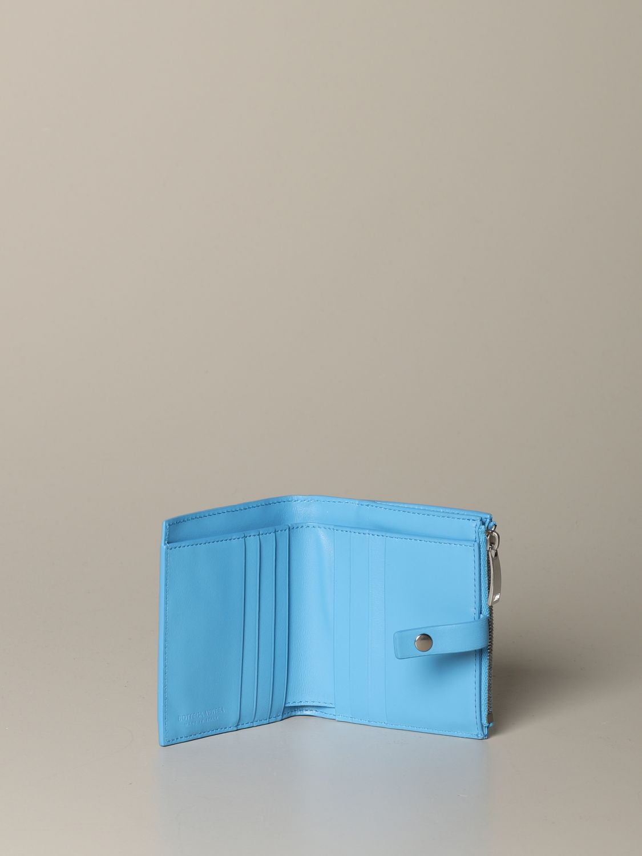 Wallet Bottega Veneta: Wallet women Bottega Veneta gnawed blue 2