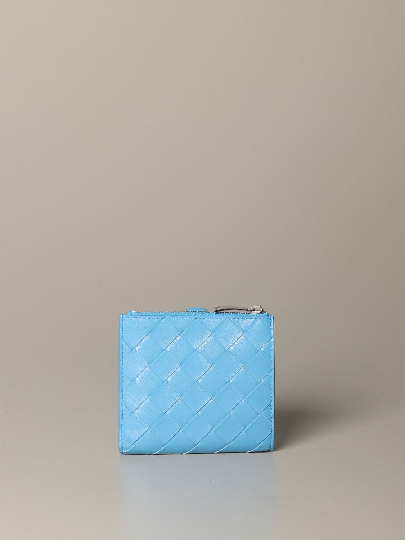 Wallet Bottega Veneta: Wallet women Bottega Veneta gnawed blue 3