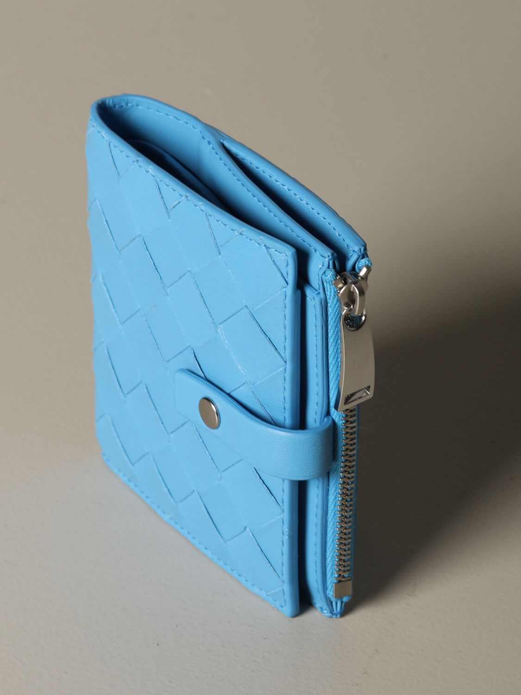 Wallet Bottega Veneta: Wallet women Bottega Veneta gnawed blue 4