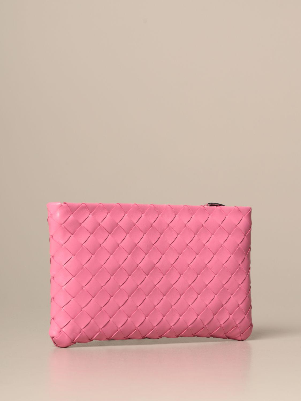 Clutch Bottega Veneta: Shoulder bag women Bottega Veneta pink 3