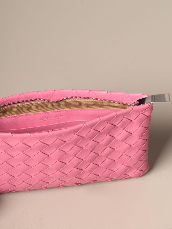 Clutch Bottega Veneta: Shoulder bag women Bottega Veneta pink 4
