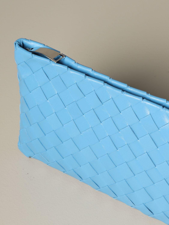 Clutch Bottega Veneta: Schultertasche damen Bottega Veneta hellblau 4