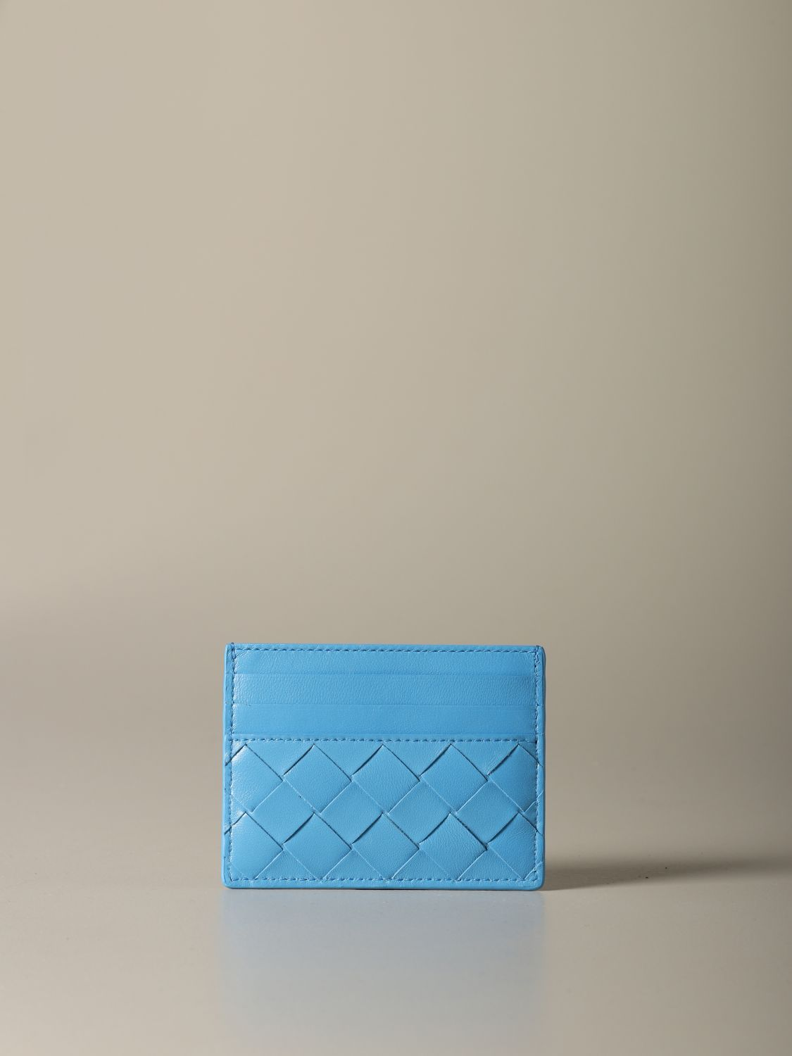 Wallet Bottega Veneta: Wallet women Bottega Veneta gnawed blue 1