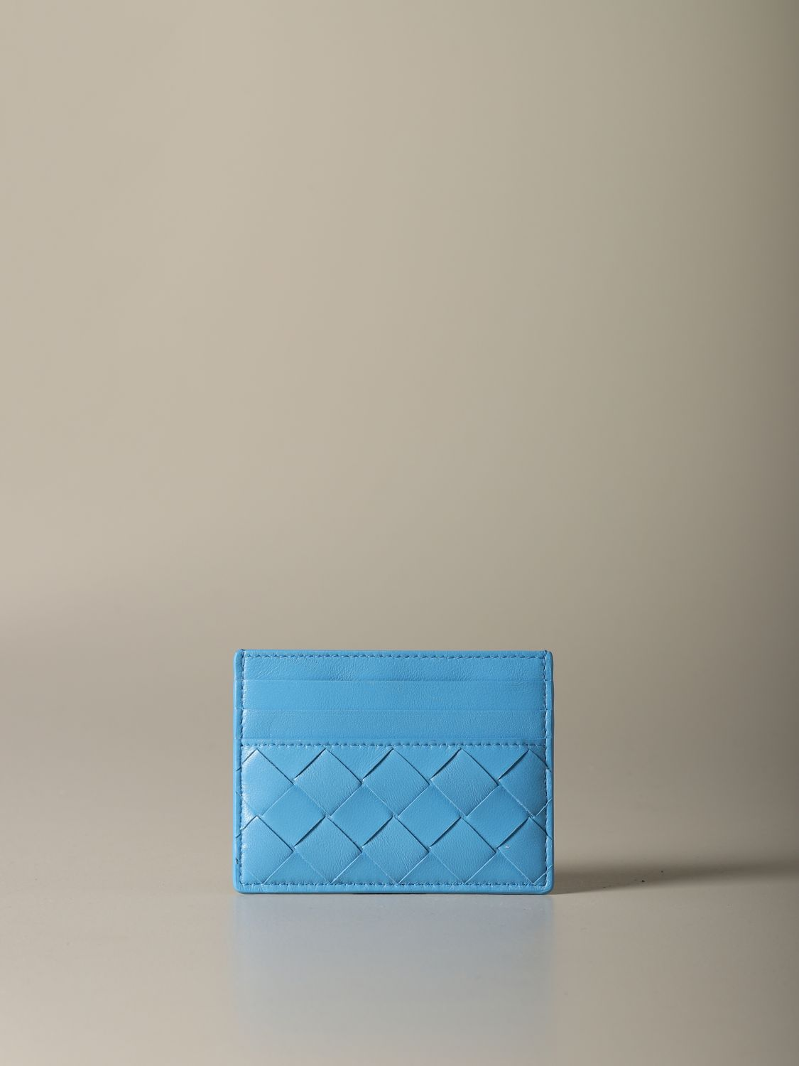 Wallet Bottega Veneta: Wallet women Bottega Veneta gnawed blue 2