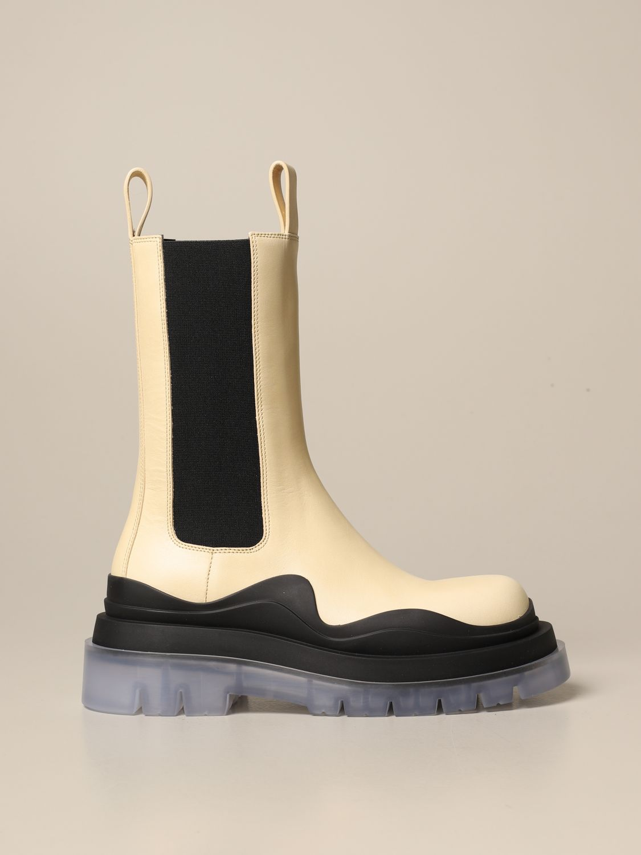 Boots Bottega Veneta: Shoes women Bottega Veneta yellow cream 1