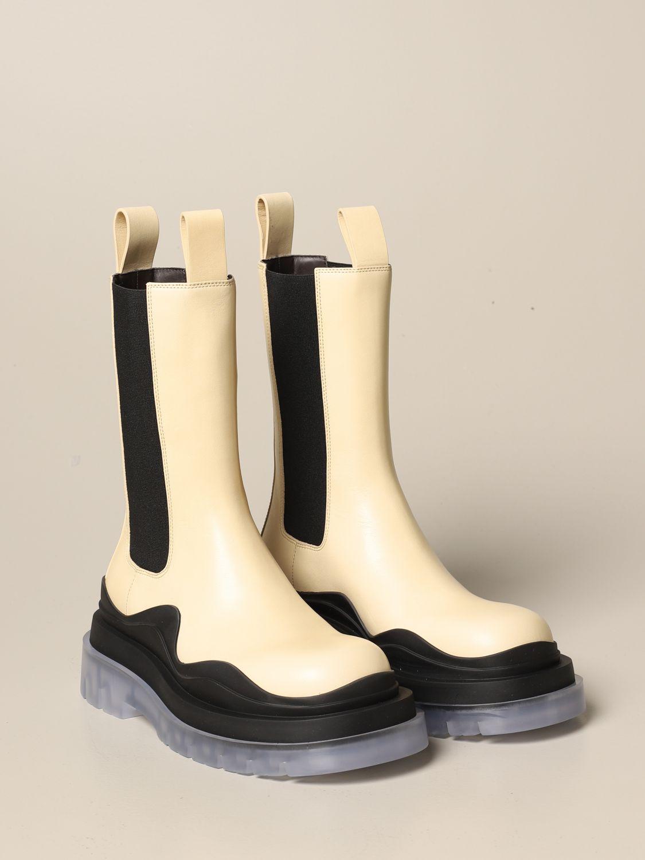 Boots Bottega Veneta: Shoes women Bottega Veneta yellow cream 2
