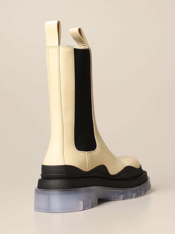 Boots Bottega Veneta: Shoes women Bottega Veneta yellow cream 3