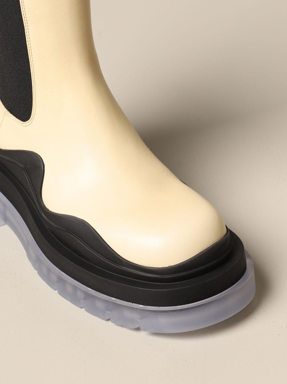 Boots Bottega Veneta: Shoes women Bottega Veneta yellow cream 4