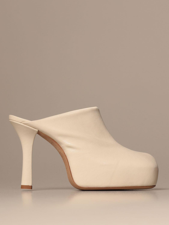 High heel shoes Bottega Veneta: Shoes women Bottega Veneta yellow cream 1