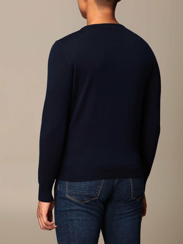 Maglia Brooksfield: Maglia a girocollo Brooksfield in lana Merino blue navy 2
