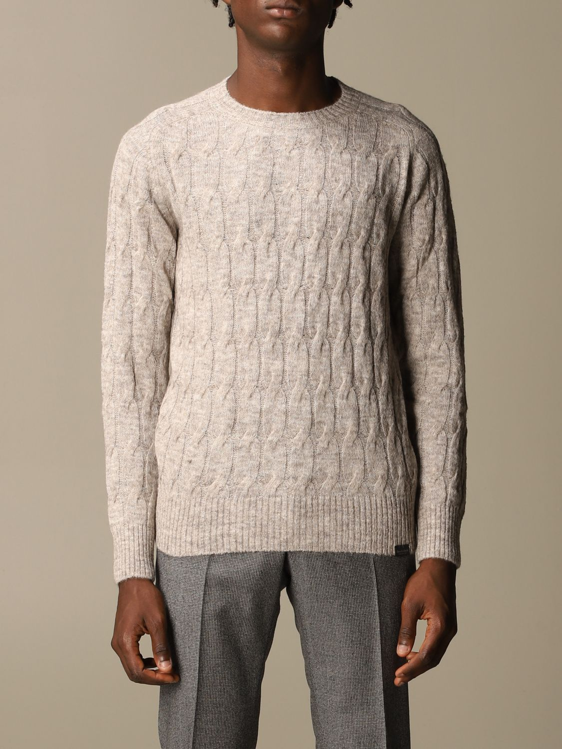 Sweater Brooksfield: Brooksfield crewneck sweater beige 1