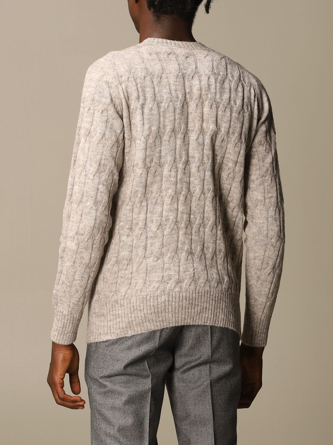 Sweater Brooksfield: Brooksfield crewneck sweater beige 2