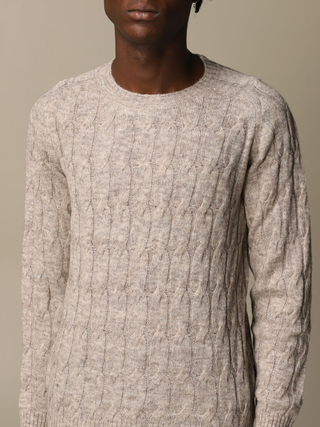 Sweater Brooksfield: Brooksfield crewneck sweater beige 3
