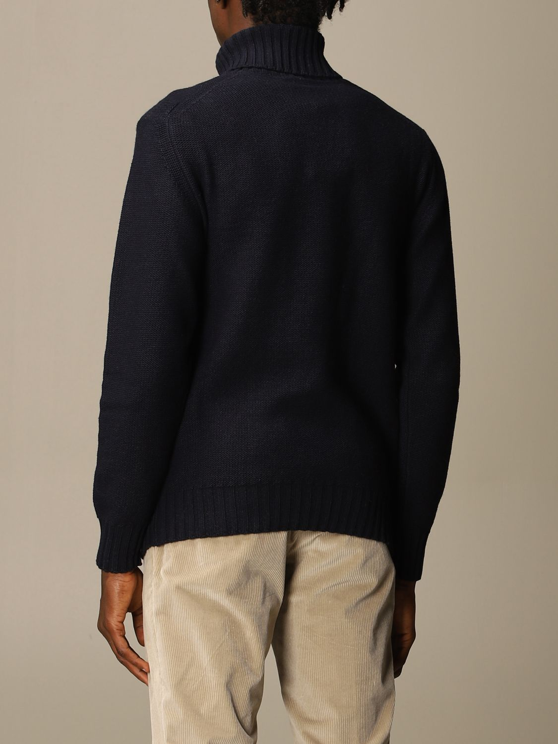 Sweater Brooksfield: Brooksfield turtleneck in wide cable knit blue 1