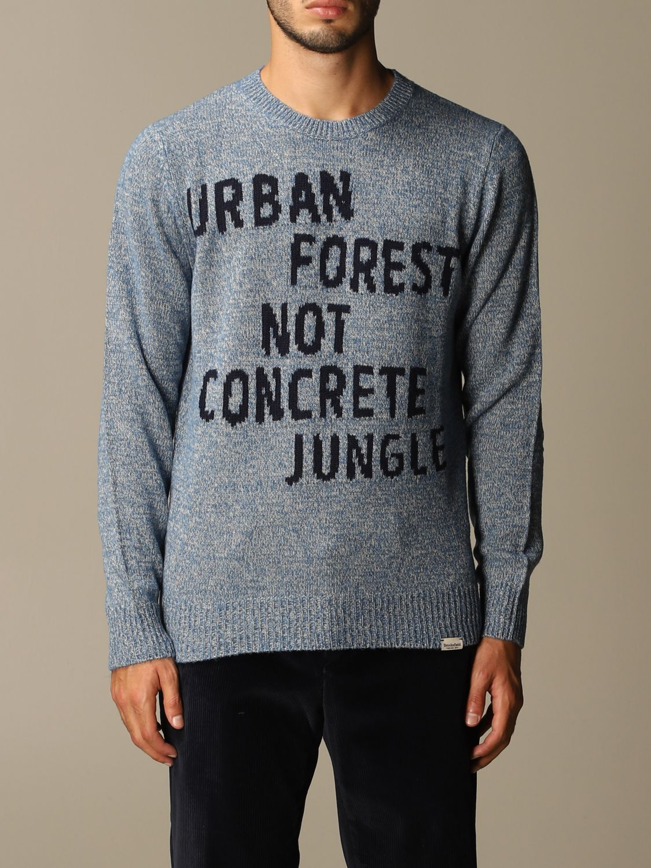 Sweater Brooksfield: Sweater men Brooksfield gnawed blue 1