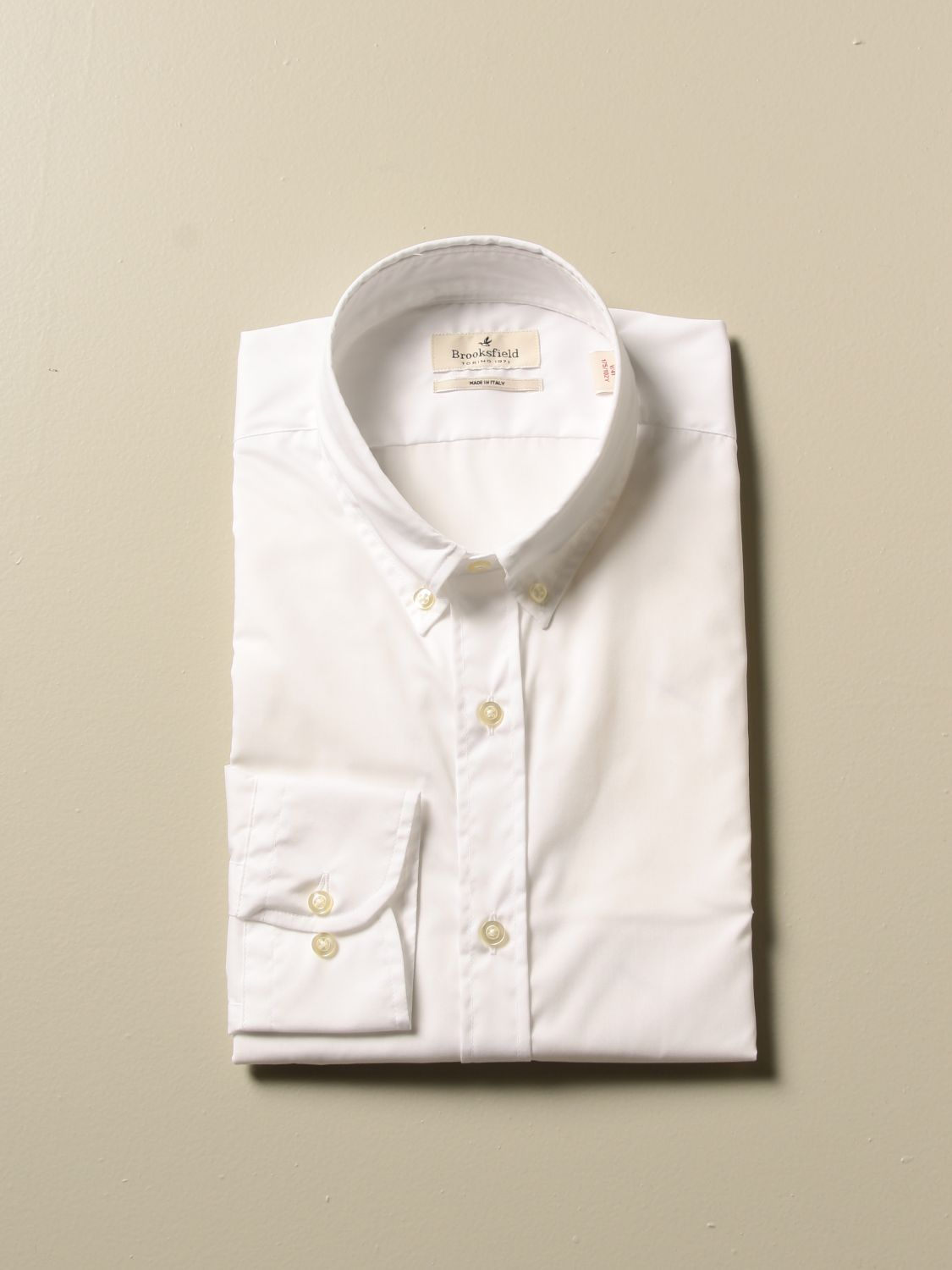 Shirt Brooksfield: Shirt men Brooksfield white 1