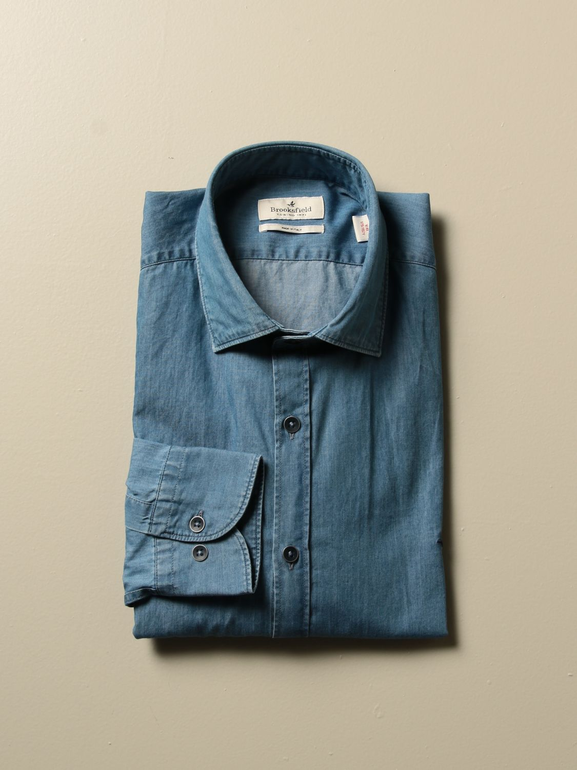 Shirt Brooksfield: Shirt men Brooksfield stone washed 1