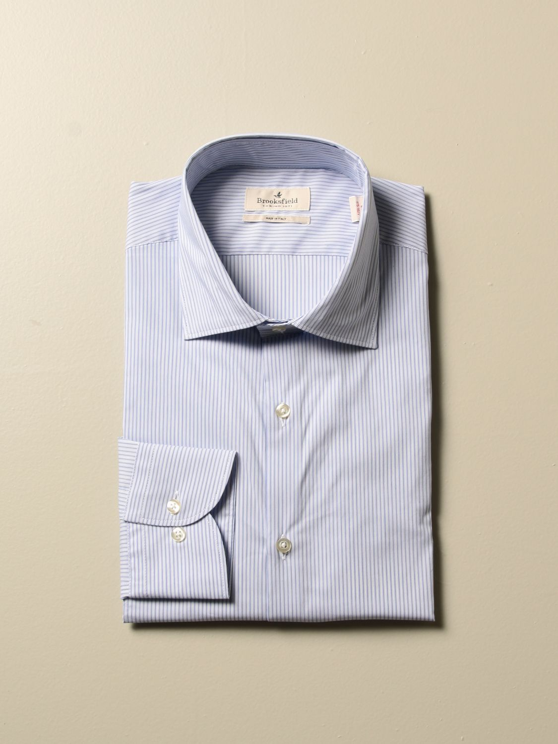 Shirt Brooksfield: Shirt men Brooksfield gnawed blue 1