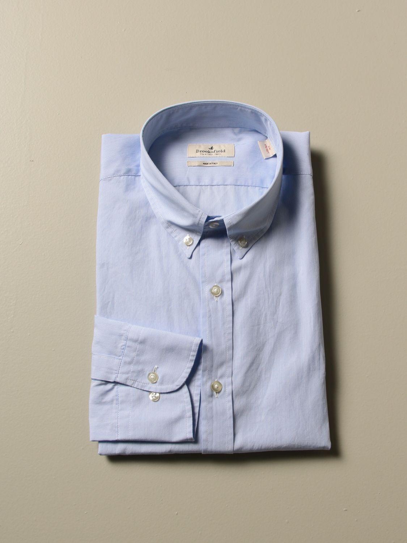 Shirt Brooksfield: Shirt men Brooksfield gnawed blue 1