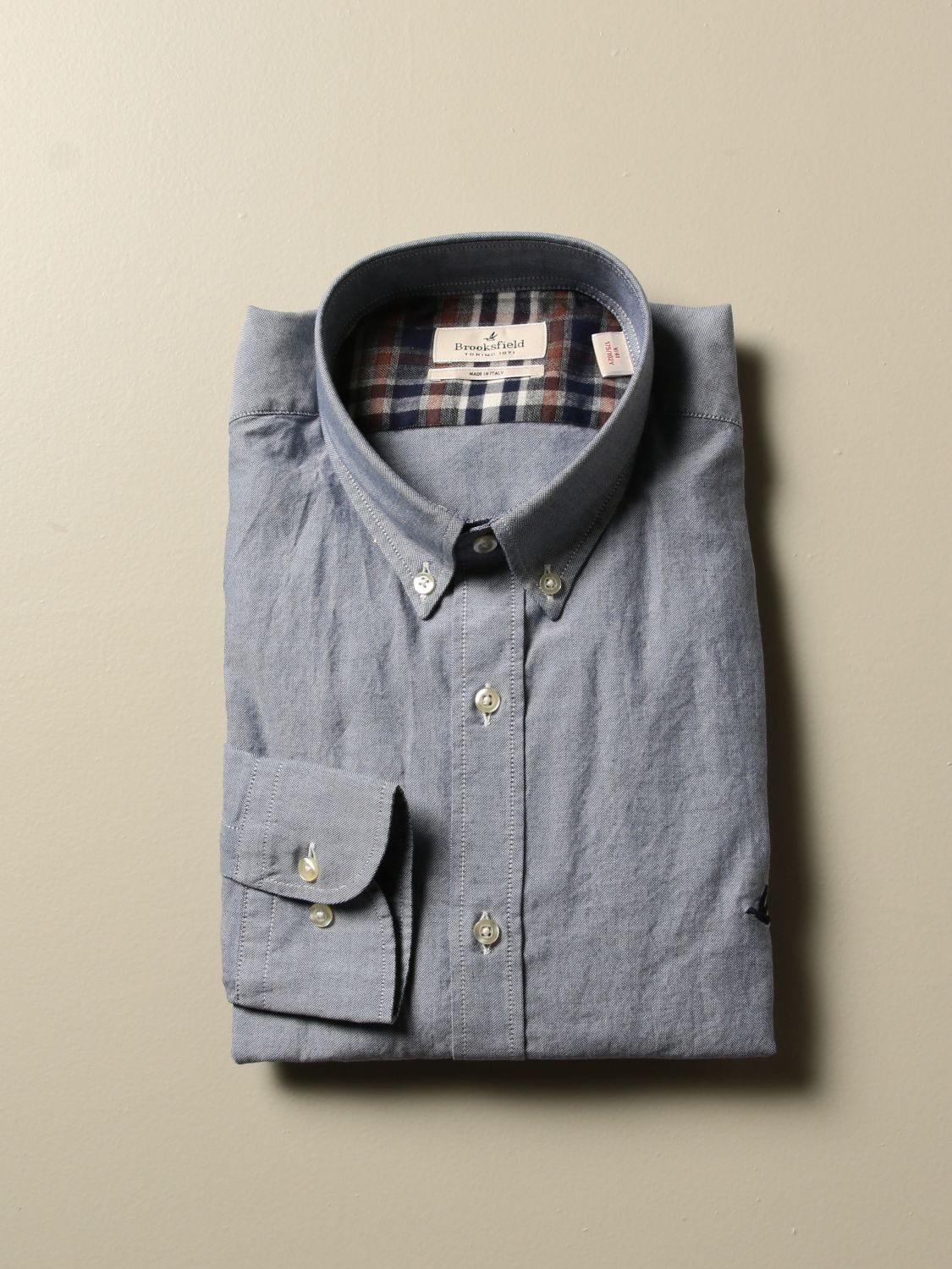 Shirt Brooksfield: Shirt men Brooksfield denim 1