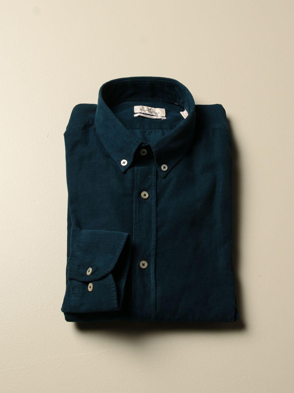 Camicia Brooksfield: Camicia Brooksfield in velluto rigato blue 1