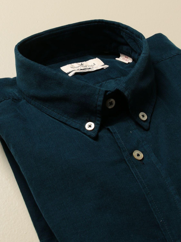 Camicia Brooksfield: Camicia Brooksfield in velluto rigato blue 2