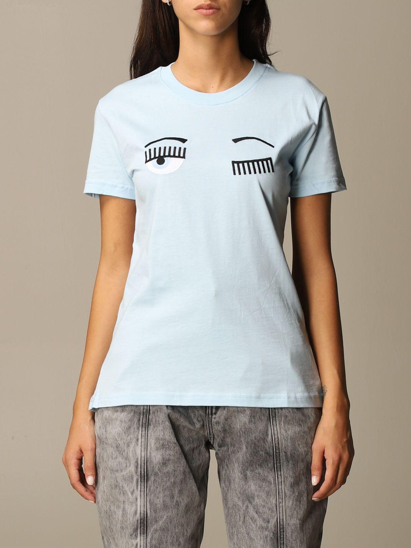 Camiseta Chiara Ferragni: Camiseta mujer Chiara Ferragni celeste 1