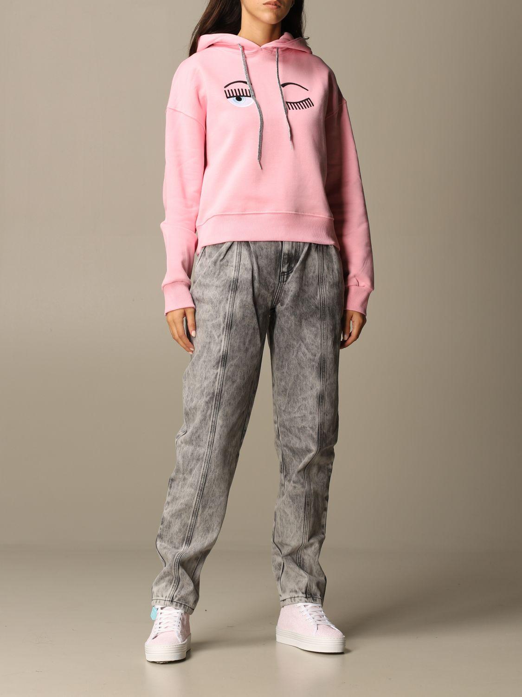 Sweatshirt Chiara Ferragni: Jumper women Chiara Ferragni pink 2