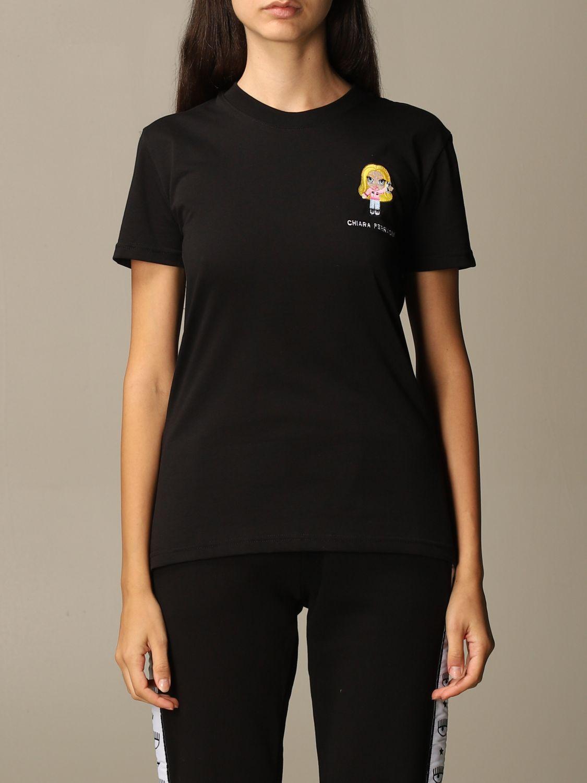Camiseta Chiara Ferragni: Camiseta mujer Chiara Ferragni negro 1