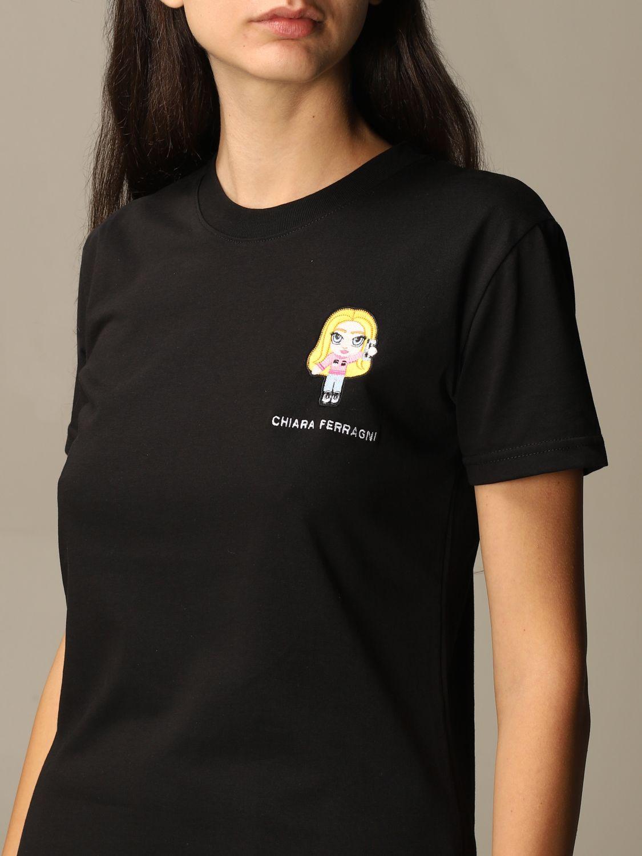 Camiseta Chiara Ferragni: Camiseta mujer Chiara Ferragni negro 3