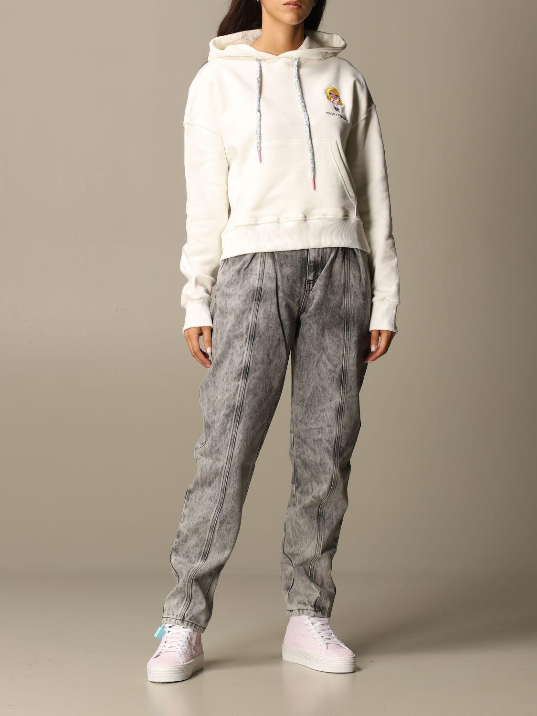 Sweatshirt Chiara Ferragni: Sweatshirt women Chiara Ferragni white 2