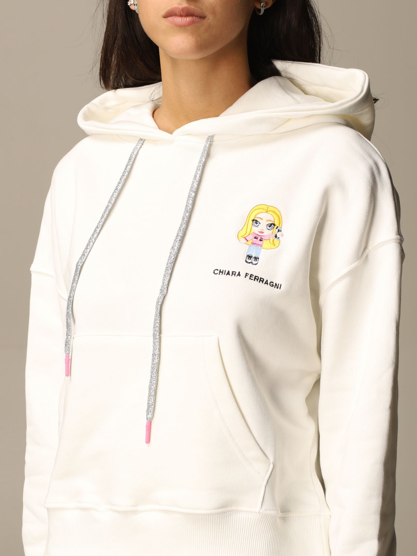Sweatshirt Chiara Ferragni: Sweatshirt women Chiara Ferragni white 4