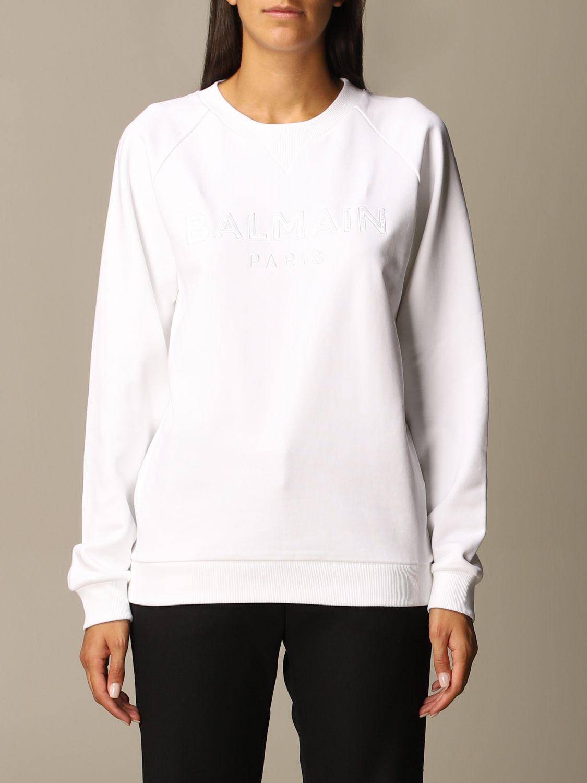 Sweatshirt Balmain: Sweatshirt women Balmain white 1