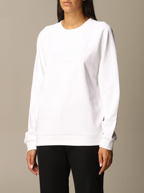Sweatshirt Balmain: Sweatshirt women Balmain white 4