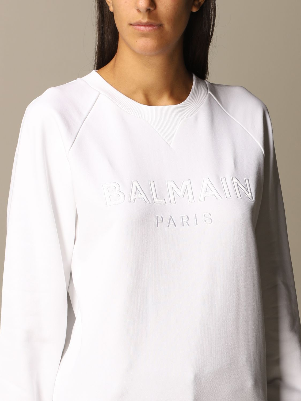Sweatshirt Balmain: Sweatshirt women Balmain white 5
