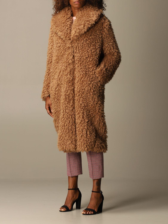 Coat Be Blumarine: Coat women Be Blumarine camel 4