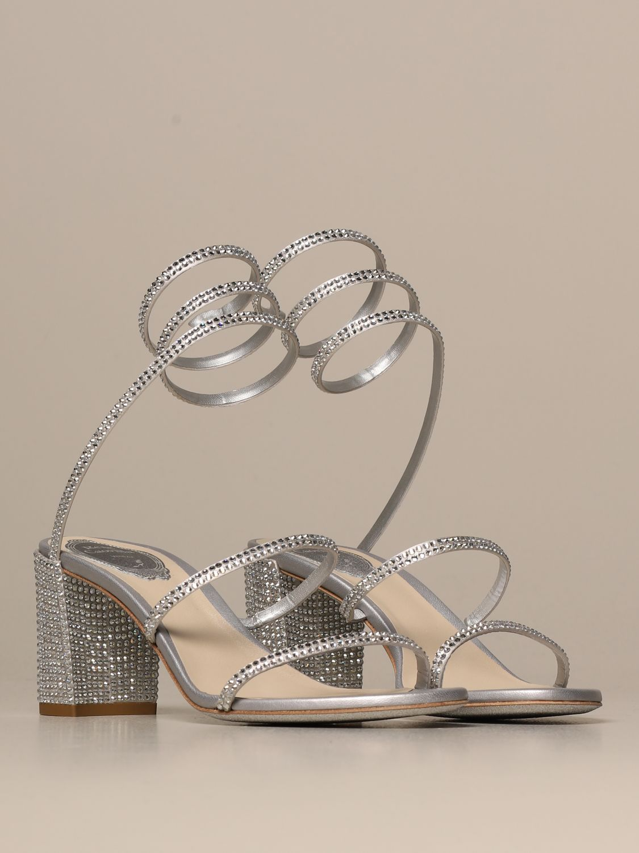 高跟凉鞋 Rene Caovilla: 鞋 女士 Rene Caovilla 银色 2