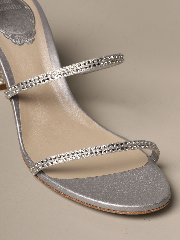 高跟凉鞋 Rene Caovilla: 鞋 女士 Rene Caovilla 银色 4