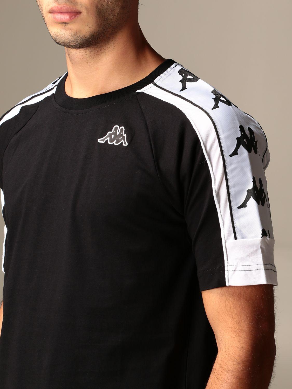 Compuesto Creyente Subtropical  Authentic Kappa cotton t-shirt with reflect logo | T-Shirt Kappa Men Black  | T-Shirt Kappa 304I050 Giglio EN