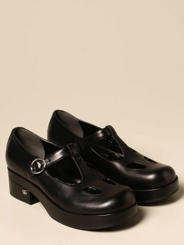 Scarpe Gucci: Scarpa Mary Jane Gucci in nappa con logo nero 2