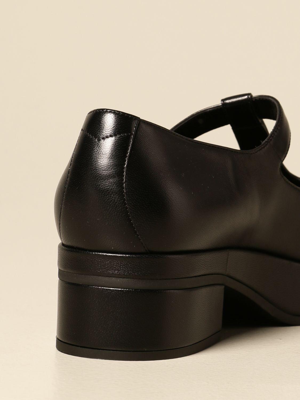 Scarpe Gucci: Scarpa Mary Jane Gucci in nappa con logo nero 3
