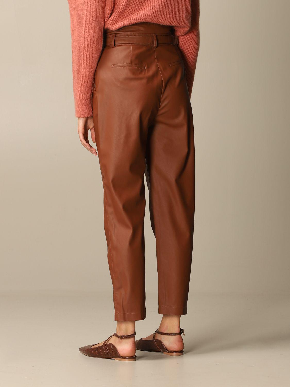 Pantalone Pinko: Pantalone Aurelio Pinko in pelle ecologica con cintura biscotto 3