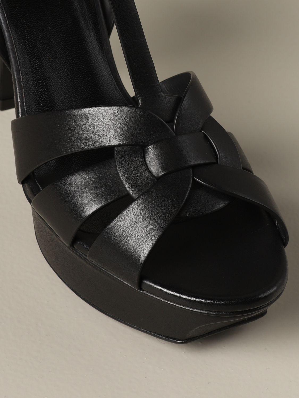Sandales à talons Saint Laurent: Sandales Tribute Saint Laurent en cuir noir 4