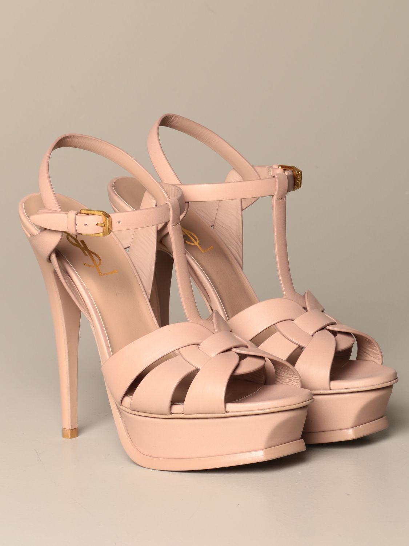 Heeled sandals Saint Laurent: Shoes women Saint Laurent beige 2